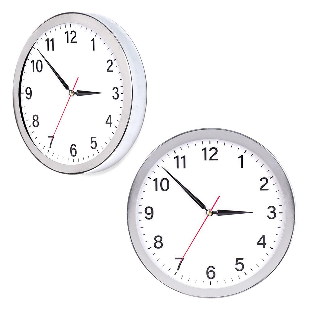 Krom Çerçeveli Duvar Saati