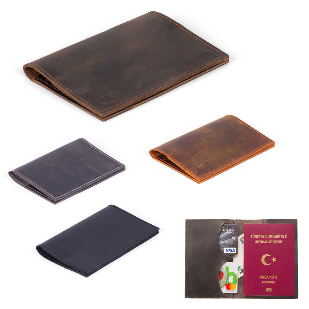 Gerçek Deri Pasaport Kılıfı