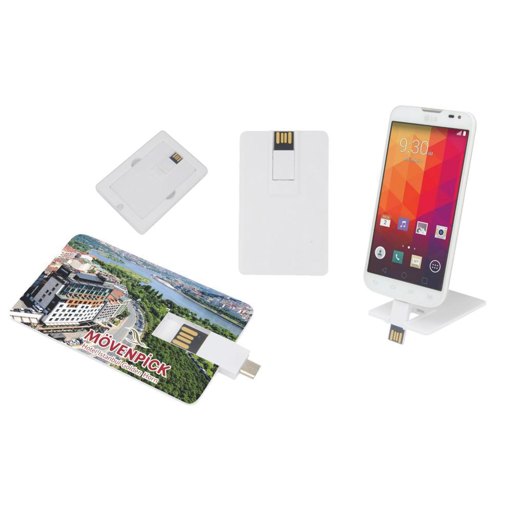 32 GB OTG Özellikli Kartvizit USB Bellek
